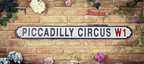 Piccadilly Circus W1 Vintage Road Sign / Street Sign